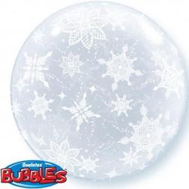 """Globos de foil de 20"""" (50Cm) Bubbles Copitos De Nieve"""