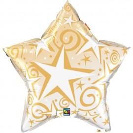 """Globos de foil Estrella de 36"""" Starblast Oro"""