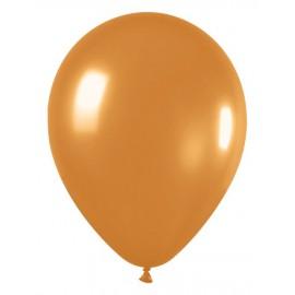 """Globos de 9"""" (22,8cm) Metálico Perlado Oro"""