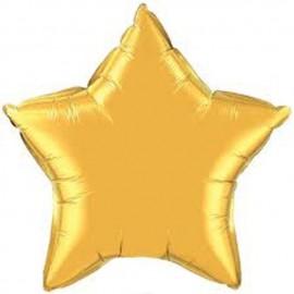 """Globos de foil Estrella de 20"""" (51Cm) Oro qualatex"""