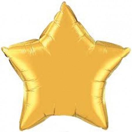 """Globos de foil Estrella de 20"""" Oro qualatex"""