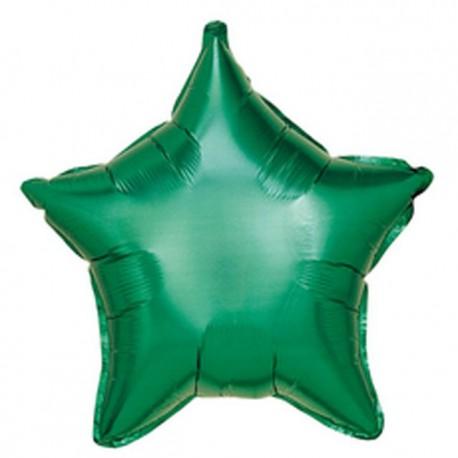 "Globos de foil Estrellas 19"" Verde"