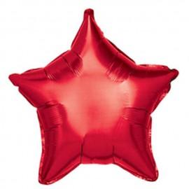 "Globos de foil Estrellas 19"" Rojo"