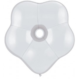 "Globos Geo Blossom 6"" color Blanco"