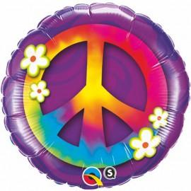 "Globos de foil de 18"" (45Cm) Paz y Amor"