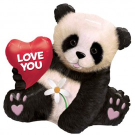 "Globos de foil 34"" (86Cm) Love You Panda"