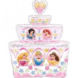 "Globo de foil 21"" x 28"" (53Cm x 71Cm) Tarta princesas"