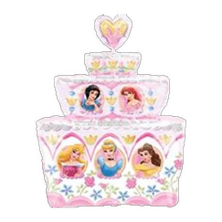 """Globo de foil supershape 21"""" x 28"""" Tarta princesas"""