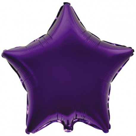 "Globos de foil Estrellas 9"" Violeta"