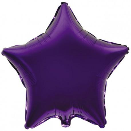 "Globos de foil Estrellas 18"" Violeta"