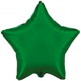 "Globos de foil Estrellas 18"" Verde"