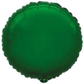 """Globos de foil Redondos de 9"""" Verde"""
