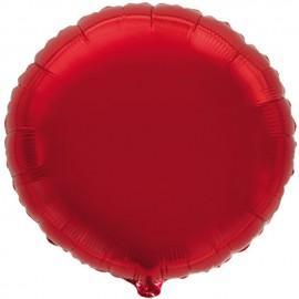 """Globos de foil Redondos de 9"""" Rojo"""