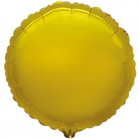 """Globos de foil Redondos de 9"""" Oro"""