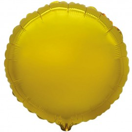 """Globos de foil Redondos de 18"""" Oro"""