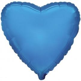 """Globos de foil corazones 9"""" Azul"""