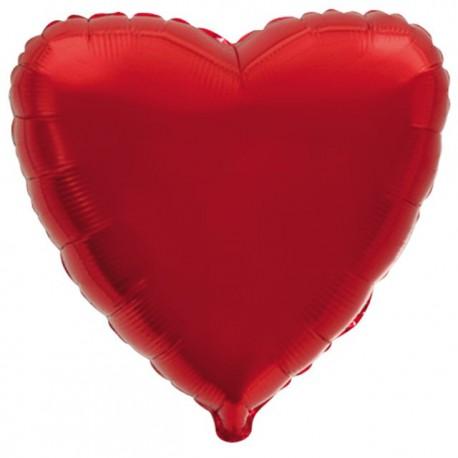 """Globos de foil corazones 9"""" Rojo"""