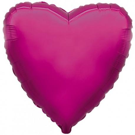 """Globos de foil corazones 9"""" Morado"""
