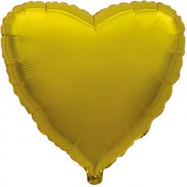 """Globos de foil corazones 9"""" Oro"""