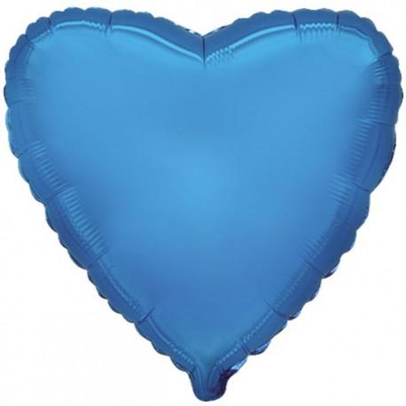 """Globos de foil corazones 18"""" Azul"""