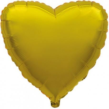 """Globos de foil corazones 18"""" Oro"""