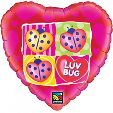 """Globos de foil de 18"""" (45Cm) Luv Bug"""