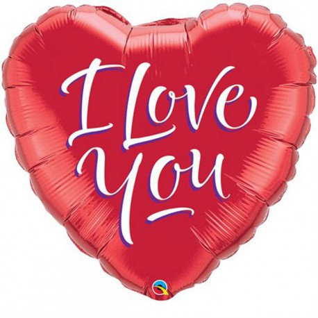 "Globos de foil de 18"" (45Cm) I Love You Moderno"