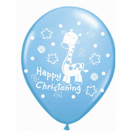 "Globos de 12"" (30.50Cm) Happy Christening"