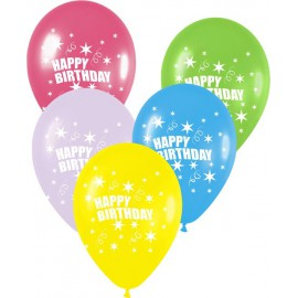 "Globos de 12"" Happy Birthday Surtidos"