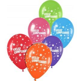 """Globos de 12"""" Feliz cumpleaños Surtidos"""