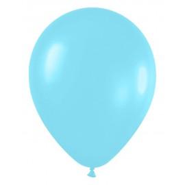 """Globos redondos de 12"""" Azul Caribe satín perlado"""