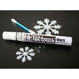 Marcador Sakura Pen-Touch Blanco