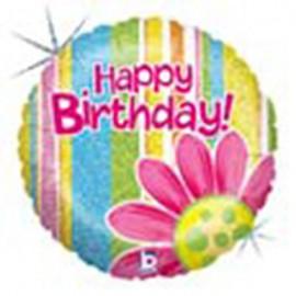 """Globos de foil de 18"""" birthday Flor"""