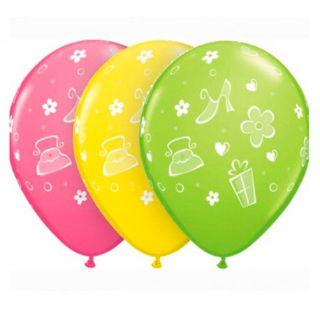 "Globos de 11"" Bolsos, Zapatos y Margaritas Qualatex"