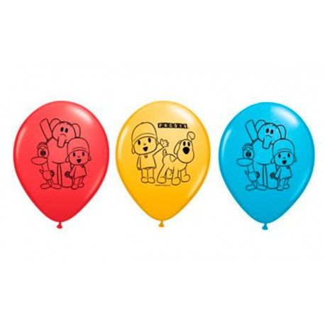 "Globos de 11"" Pocoyo Qualatex"