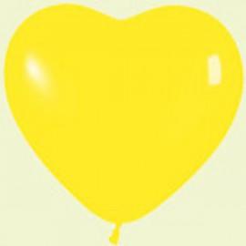 """Globos de 6"""" corazones Amarillo crystal"""