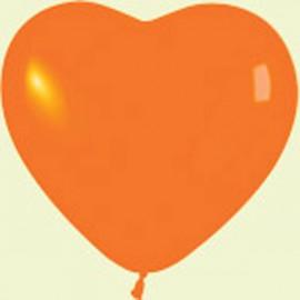 "Globos de 6"" corazones Naranja crystal"