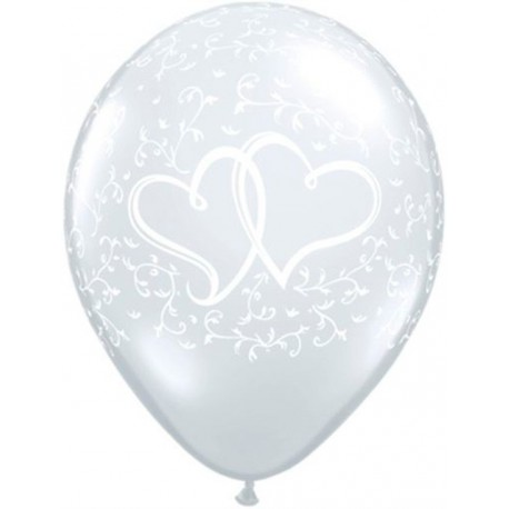 "Globos de 24"" (61Cm) Corazones Enlazados Qualatex"