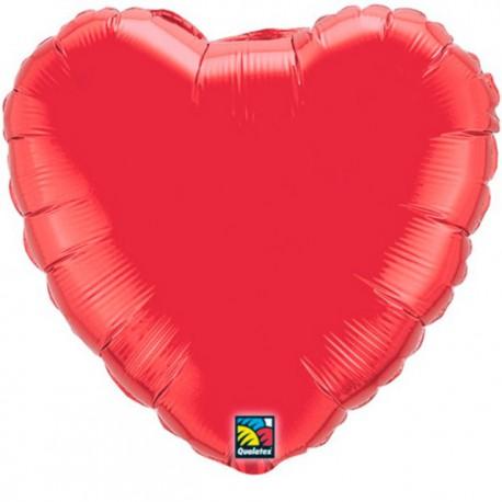 """Globos de foil corazones 36"""" Rojo Ruby"""