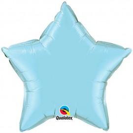 """Globos de foil Estrella 36"""" Perlado Azul Claro"""