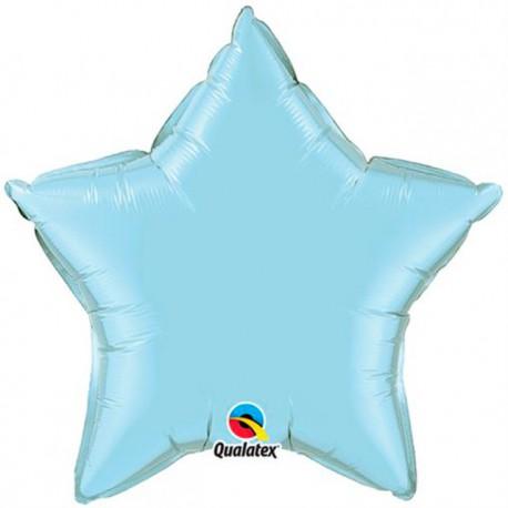 """Globos de foil corazones 36"""" Perlado Azul Claro"""
