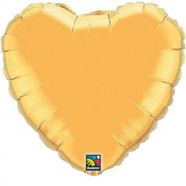 """Globos de foil corazones 36"""" Oro"""