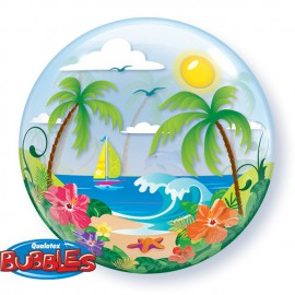"Globos de foil de 22"" Bubbles Escapada tropical"