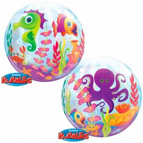 """Globos de foil de 22"""" Bubbles Criaturas Marinas"""