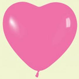 """Globos de 12"""" corazones Fucsia"""