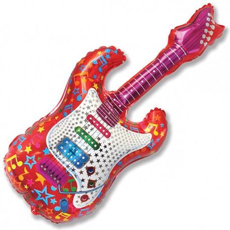 """Globos foil supershape 44"""" x 20"""" (122cm x 50cm) Guitarra"""
