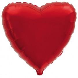 """Globos de foil corazones 32"""" (81 Cm) Rojo"""