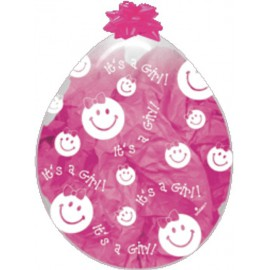 "GLOBOS DE LATEX STUFFING 18"" SMILE GIRL"