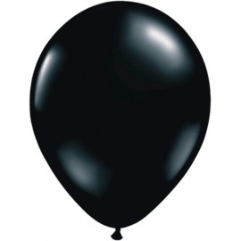 "Globos Redondos de 11"" Fashion Negro Onix Qualatex"