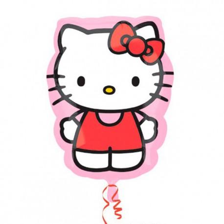 "Globos de foil supershape de 22"" X 27"" Hello Kitty"